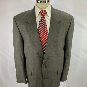 Jones New York Golden Fil Men's Brown Wool Blazer